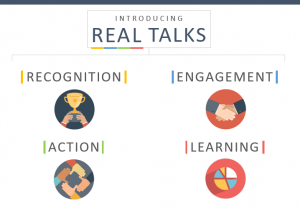 REAL TALKS quarterly conversations complement annual reviews.
